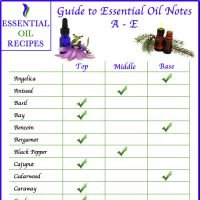 Guide to Essential Oil Notes A-E